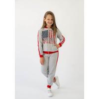Спортивный костюм для девочки Маша красный начес