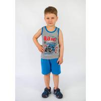 Комплект для мальчика Майка с шортами серый кулир